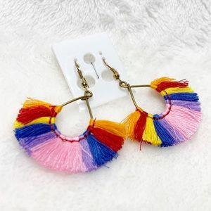 Jewelry - Rainbow fringe earrings